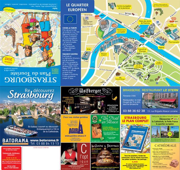plan du touriste strasbourg quartier europeen